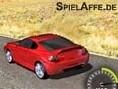 Steuerung: Pfeiltasten - Steuern Rase mit Deinem roten Flitzer über die Autobahn. Weiche den Gegenst