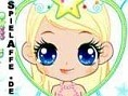 Schminke den kleinen hübschen Engel. Klicke z.B. mit der Maus auf den Lippenstift, wähle eine Farbe