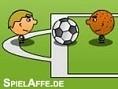 1 gegen 1 Fußball - schieße Tore im Kampf Spieler gegen Spieler 1 gegen 1 Fußball