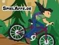 Rase mit Deinem Bike über Stock und Stein, um die Stadt aus den Klauen des Riesen-Hamsters zu retten