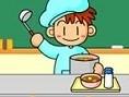 Steuerung: Maus In diesem Spiel musst Du als Küchenhilfe Schüsseln auf ein Tablett stellen und mit S