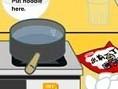 Steuerung: Maus Koche das Essen nach Bestellung. Klicke auf die Zutaten, um sie zuzubereiten. Achte