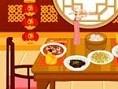 Dekoriere Dein eigenes asiatisches Esszimmer. Klicke auf die Möbel und platziere sie im Raum. Viel S