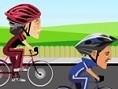 Steuerung: Pfeiltasten - Steuern Wähle einen Charakter und fahre ein spannendes Fahrradrennen. Drück