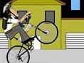 Geschickter Fahrradfahrer