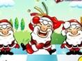 Tanzende Weihnachtsmänner
