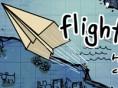 Flug mit Papier