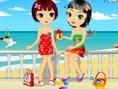 Schwestern im Urlaub