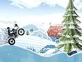 Eisiges Motorrad