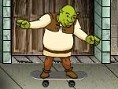 Shrek als Skater