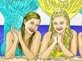 Meerjungfrauen zeichnen