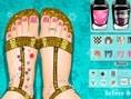 Sandalen und Maniküren