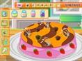 Süßen Kuchen dekorieren