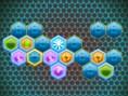 Farbige Hexagone