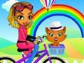 Mina fährt Fahrrad