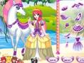 Prinzessin mit weissem Pferd
