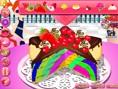 Rainbow Clown Cake