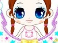 Little Brown-Haired Girl Make Up