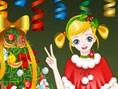 Kleines Weihnachts- Mädchen