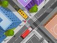 Koordiniere den Verkehr und verhindere Auffahrunfälle oder Staus! Du steuerst ob ein Auto abbre
