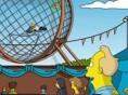 Homer en motocicleta