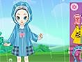 Sevimli Kız Yağmurda