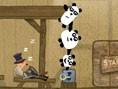 Pandas auf der Flucht