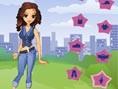 Trendy Jeans Girl