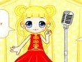 Kleines Popstar Mädchen anziehen