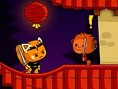 Ninja Oyunlar? E?itimini tamamlay?p ninja olarak dönen Kungfu Kedi ailesinin aç ve sefil