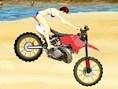 Rase mit Deinem Motorrad am Strand entlang und mache waghalsige Stunts. -:Tricks Sammel unterwegs di
