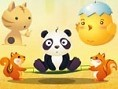 Drücke den oberen Knopf um zu starten, Leertaste um einen Panda zu holen und nochmals die Leertaste,