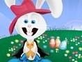 Osterhase anziehen Der kleine weiße Osterhase möchte sich verkleiden. Hilf ihm, die passenden Kleide