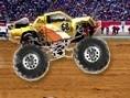 Dröhnende Motoren, Adrenalin und Abenteuer.Springe mit Deinem Monster-Truck über riesige LKWs.