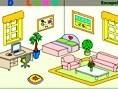Untersuche dieses Puppenzimmer ganz genau, um alle Buchstaben des Wortes Doll House zu finden und zu