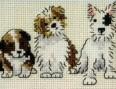 Hunde- Stickerei