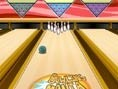 Kannst Du alle 10 Pins mit Deiner Bowlingkugel abräumen?  Maus: Klicken zum werfen Tipp: