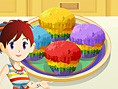 Sara's Rainbow Muffins