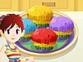 Saras Rainbow Muffins