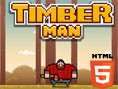 Neue Geschicklichkeitsspiele Kostenlos Der lustige Holzhacker Bube Timberman kann einfach nicht genu
