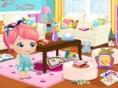 Neue Kostenlose Kinderspiele spielen Baby Alice Party Clean Up - In diesem süßenKinderspiel hat Bab
