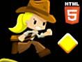 Online Platform Oyunlar? Orjinal ad? Indiara and the skull gold olan bu Jump'n'Run oyununda