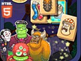 Neue Kostenlose Mahjong-Spiele spielen Wo sich Frankensteins Monster mit Vampiren, Spinnen und Dämon