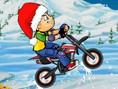 Schnee-Parkour