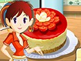 Bedava Süper K?z Oyunlar? Online Sara's Berry Cheesecake, Sara ile Peynirli Pasta yapmaya h