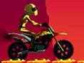 Bedava Parkur Oyunlar? Online Volcano Ride, cesur motorcumuz bu sefer yanarda? eteklerinde tehlikeli