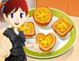 Bedava K?z Oyunlar? Online Sara's Banana Egg Tarts, Sara ile mutfakta leziz kekler yapmaya haz?r