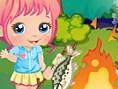 Yeni Dekorasyon Oyunlar? Online Baby Alice Camping, sevimli bebek Alice ormanda kamp yapmaya karar v
