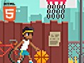 Become a living street basketball legend! In this retro sports game your aim is to score as many poi