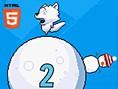 Icy Roller - Geschicklichkeitsspiele Action-Spiele kostenlos spielen Der arme, kleine Wolf ist auf e